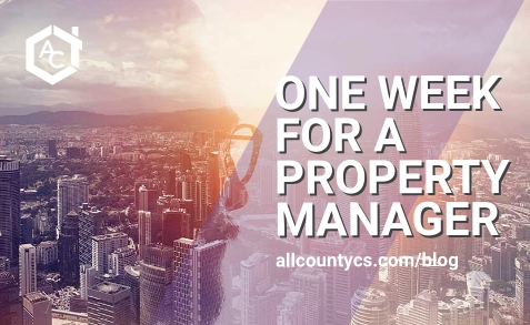 One Week for a Property Manager